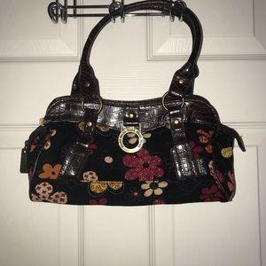Mudd: Brown & Black Floral Corduroy Shoulder Bag